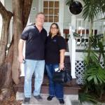 KWPS Managers, Wayne and Jacquie, at the Artist House in Key West.