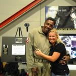 KWPS Founder and Director, Tami Beckel, meeting with Ernie Hudson, one of the original Ghostbusters.