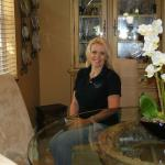 Broker, Tami Beckel, at a client's home in Ft. Lauderdale, FL.