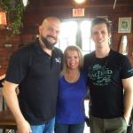 Broker, Tami Beckel, filming for Destination America's Ghost Asylum With Scott Porter and Producer Andrew.